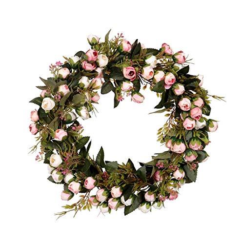 TOOGOO Weihnachts Blumen Kranz Rosen Girlande Mit Elegantem Best Für Haupt Wand Tür Und Fenster Dekorations Hochzeits Dekoration