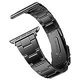 JETech Ersatz Uhrenarmband für Apple Watch 38mm und 40mm Series 1 2 3 4, Edelstahl Armband, Schwarz