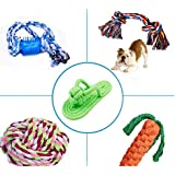 Dog Rope Toys, Puppy Toys Set Pet Braided Rope Toys Puppy Chew Durable Interactive Cotton Toys Dental Health Teeth Cleaning For Small/Medium Dog Biting Toys 5 Pack Color May Vary
