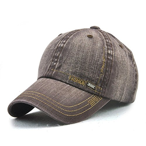 LAOWWO Unisex Men Women Baseball Cap Adjustable Wash Denim Classic Design Sport Leisure Cap Hat 6 Colors