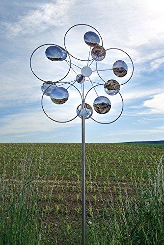 Wind Dancer Blume des Lebens - Edle Sommerdeko, Windspiel, Geschenk für Gartenfreunde, Außendeko, Geburtstagsgeschenk, Muttertagsgeschenk, Windchime, 2732
