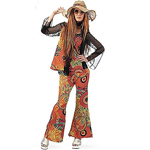 Limit Sport - Disfraz de hippy estampado para mujer, talla S (MA591)