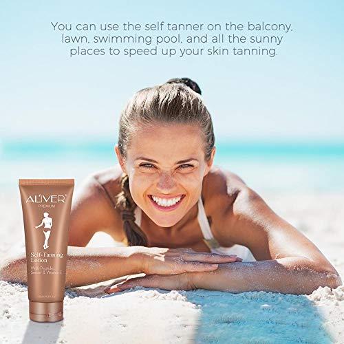 libelyef Bräunungscreme,Selbstbräuner Self Tanning Sonnenfreie Bio-Bräunungscreme, Einfaches Und Gesundes Bräunungserlebnis, 125 Ml benefit