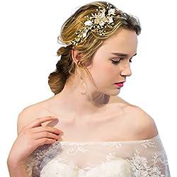 Tocado de pelo de novia - parte superior