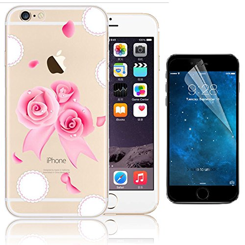 iPhone 6 Plus Case (5.5 pollice), Bonice iPhone 6S Plus Cover,Bonice Colorato Ultra Thin Morbido TPU Silicone Rubber Clear Trasparente Back Creativo Case –pulcino 02 model 4