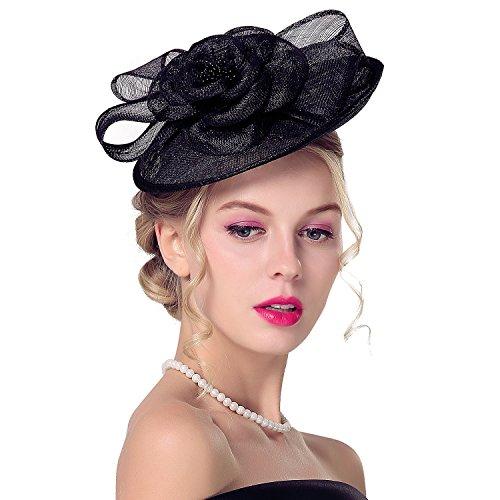 Deevoov Sinamay Fascinator Gelegenheits-Hochzeits-Hüte Partei-Derby-Cocktailhut für Frauen …