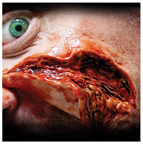3D Realistische Special FX Gore blutige Wunden Halloween Kleber & latexfreies Wasser Auftragen Make-up Zubehör Prothetik Transfer, Multi, Large Wound ()