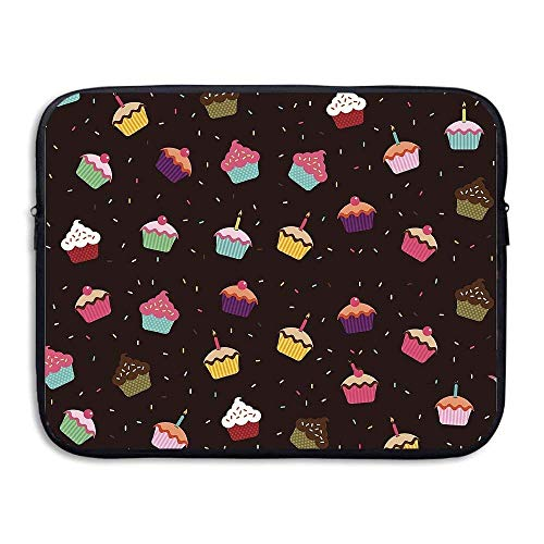 Laptop Sleeve Bag Love Cupcakes Cover Computer Liner Package Protective Case Waterproof Computer Portable Bags