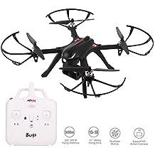 MJX Bugs 3 RC Drohne für Kinder Mini RC Quadcopter Drohne mit Brushless Motor FPV Drone mit Kamera Halterung für Gopro Kameras und Sportkameras, Schwarz mit 1800mAh Batterie