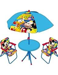 Arditex WD7869 Set camping de 4 piezas, diseño Mickey Mouse