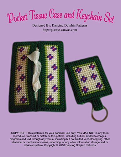 Pocket Tissue Case and Keychain Set: Plastic Canvas Pattern (English Edition)