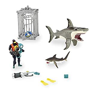 shark attack figure playset animal planet