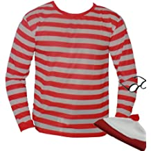 The Dragons Den - Disfraz de Wally para adulto (talla XL), color blanco y rojo