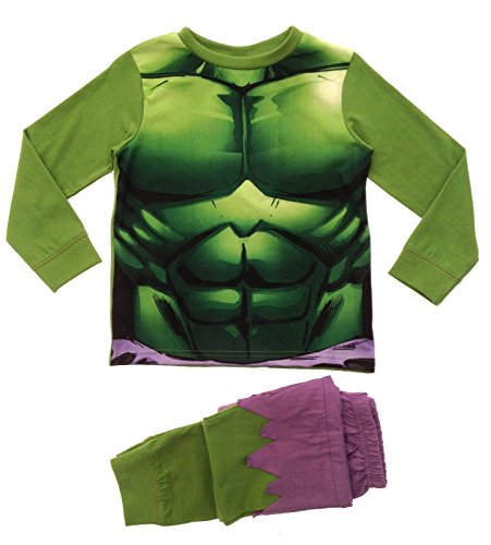 Lora Dora Jungen Schlafanzug grün Incredible Hulk Novelty PJ's 7-8 (Kinder Kostüme Incredibles)