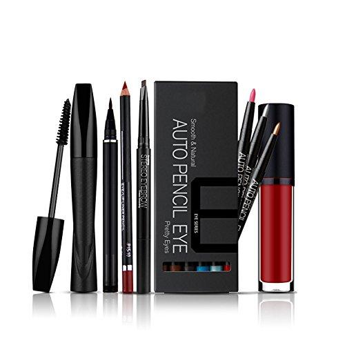 kaigeli888-6pcs-make-up-set-lip-liner-liquid-eyeliner-augenbrauenstift-mascara-creme-12-farben-lidsc