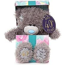"""Me To You sg01W41187pulgadas de altura Tatty Teddy """"Happy 40th peluche de oso dentro de un regalo de cumpleaños"""