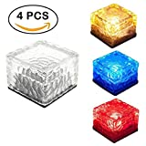 Solar Brick Light Ice Cube, begraben Licht Maschine für Garten Veranda Innenhof Weg Terrasse Pool Teich outdoor Dekoration Mixed 4 Pack