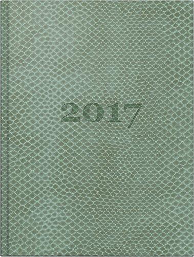 Preisvergleich Produktbild rido/idé 701811101 Taschenkalender perfect/Technik I, 2 Seiten = 1 Woche, 100 x 140 mm, Kunstleder-Einband Snake lindgrün, Kalendarium 2018