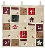 Adventskalender bunt zum Aufhängen und Befüllen mit 24 Taschen