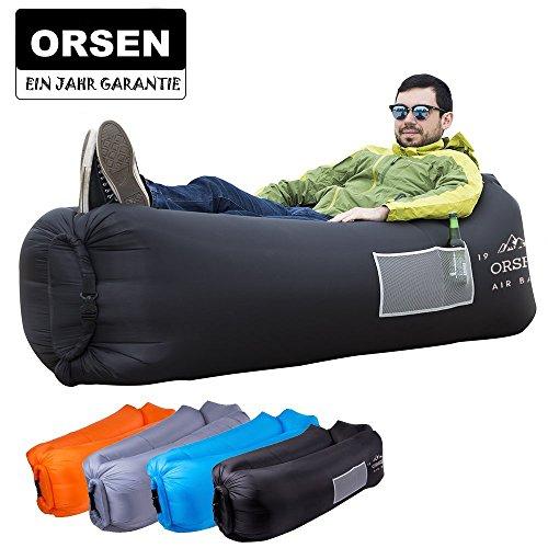 ORSEN Sofa Gonflable, canapé Gonflable imperméable à l'eau, Chaise Longue hamac Gonflable avec Sac de Transport et pour...