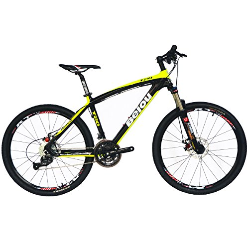 51kOOW l1UL. SS500  - BEIOU Toray T700 Carbon Fiber Mountain Bike Complete Bicycle MTB 27 Speed 26-Inch Wheel SHIMANO 370 CB004
