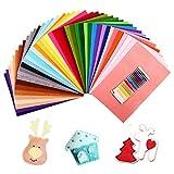 SOLEDI 41 Filzplatten Bastelfilz Filz-Blätter farbige Filztuch geeignet für Nähen, Stoff Kunst, Stückeln, DIY 20 * 30 cm
