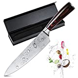 KOLIER Kochmesser Küchenmesser Chefmesser 20 cm Allzweckmesser Sehr Scharfe Klinge Rostfreier Stahl Köche Messer zum Schneiden