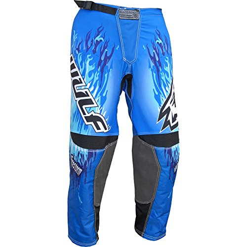 RP182 42 - Wulf Firestorm Adult Motocross Pants 42 Blue (Bike Dirt Hose 42)