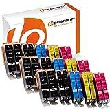 Bubprint 30er Set Druckerpatrone Kompatibel Für Canon Pixma MX925 IP7250 MG5650 MX725 Drucker Canon PGI-550 XL PGBK PGI-550BK CLI-551 XL Mit Chip