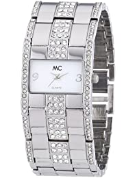 MC Timetrend Damen-Armbanduhr Analog Quarz Metallband 50884