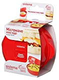 Sistema Microwave Egg Cooker Easy Eggs, 270 ml - Red