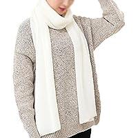 Westeng Bufanda larga de la bufanda de las mujeres Color sólido bufanda caliente del mantón de la bufanda para el invierno de la caída