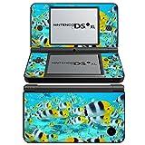 Leben im Meer 10038, Ozean, Design folie Sticker Skin Aufkleber Schutzfolie mit Farbenfrohe Design für Nintendo DSi XL Designfolie