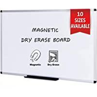 VIZ-PRO Tableau Blanc   surface laquée aimantée   cadre en aluminium, 120 x 60 cm