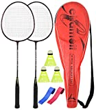 #6: Guru Chemeli BS10-Combo-1 Two Racket & 2 PVC Grip & 1 Cover & 3 shuttlecock Badminton Set 27 inch