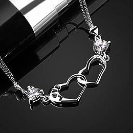 Acheter B.Catcher Bracelet en Argent 925 Double Coeur... en ligne