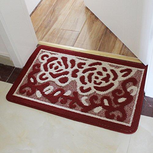 LRW Die Badezimmertür Tür Tür Fußmatte Saugfähigen Matten Badematten Halle Schlafzimmer Teppich Fußmatte Mat (Color : A, Size : 50×80cm)