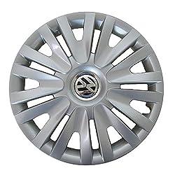 Volkswagen 5K0071455 Wheel trim, 15-inch, Brilliant silver, Set of 4