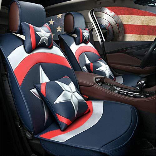 Cuscini in pelle per sedili per auto PU Rear Full Set 13 pcs per veicoli a 5 posti adatti per l'uso tutto reversico