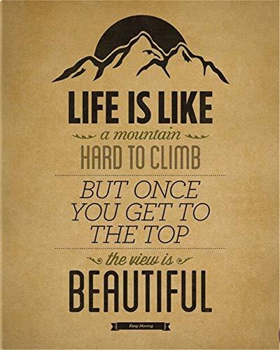 wandtattoos dschungelbuch Bergsteigen Leben ist wie Sie nie wissen, was Sie erhalten Retro Kraft Poster Wand Leinwand Aufkleber Poster Home Decor für Wohnzimmer