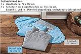 Global Mikrofaser Hundehandtuch Set Handtuch und Schaltuch mit Stickerei echte Mikrofaser (grau)