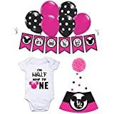 Minnie Mouse Half Birthday Decorations For Girls Photo Shoot Props