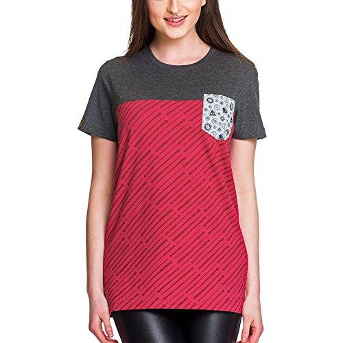 sen Herren T-Shirt Magic Symbols Elbenwald Baumwolle grau rot - XXL ()