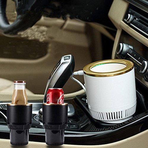 Auto Getränkehalter Car Cup Kühler Wärmer 12V Tragbare Auto Electric Cup Getränkehalter der in jeden Zigarettenanzünder oder Steckdose Passt Ideal für Autoreise Arbeit - Getränke Cup-kühler