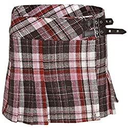 Chaos Theory Mujer Cuadros Minifalda Tartán Falda Escocesa Billie Plisado Mini Faldas - Tartán, 38