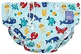 Bambino Mio, Reusable Swim Nappy, Multicolour (Deep Sea Blue) Large (1-2 Years)