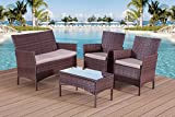 Furniture Best Deals - Garden Furniture Set Table Chair and Sofa RATTAN Conservatory, Patio Garden