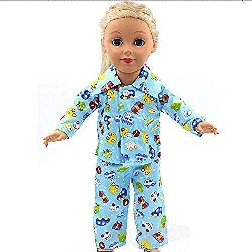 newin (Stern, Schlafanzug, Nachtwäsche, Kleidung für Barbie-Puppen, für 45,7cm Puppe American Girl Our Generation Reise-Geschenk-Set