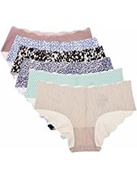 La Isla Damen 6er Pack Slip Low Cut Slip - Weich Bikini Hüftslip Pant