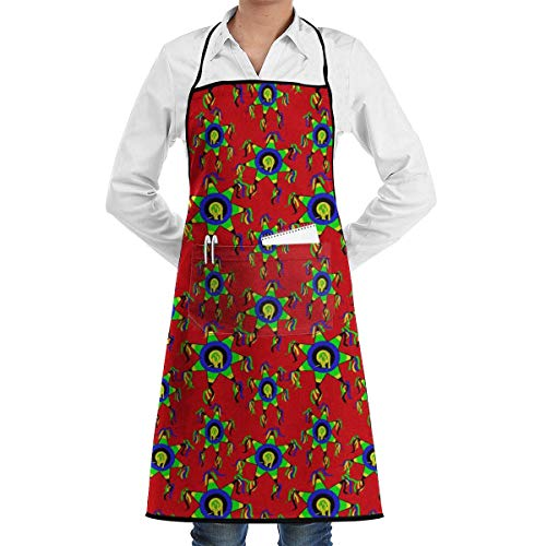 ze with 2 Pockets Tribal Logo Extra Long Ties Kitchen Schürzes for Women and Men, Resistant to Droplets black Schürze ()